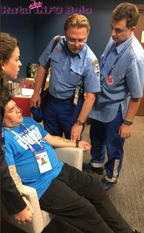 Diego Maradona mendapat rawatan medis