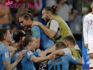 Edinson Cavani menyingkirkan Cristiano Ronaldo